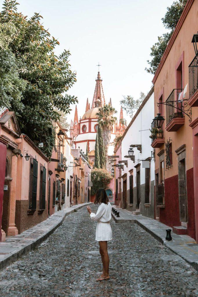the most instagramable street in San Miguel de Allende