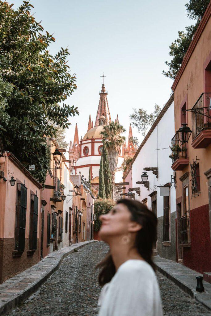 woman in San Miguel de Allende street