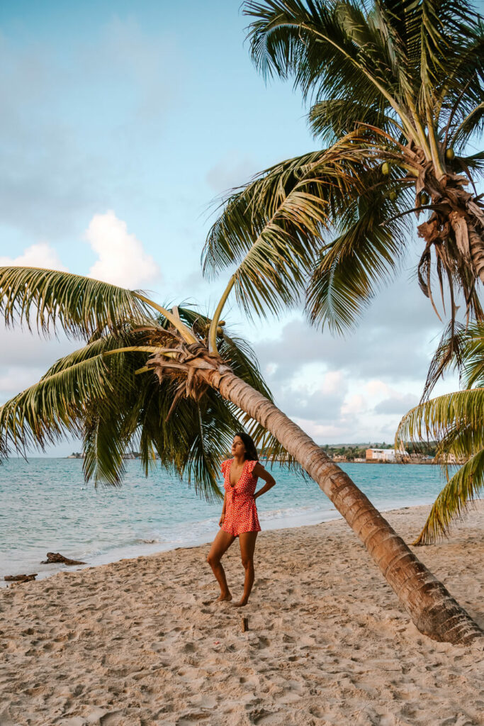 woman on the beach in San Andres during golden hour