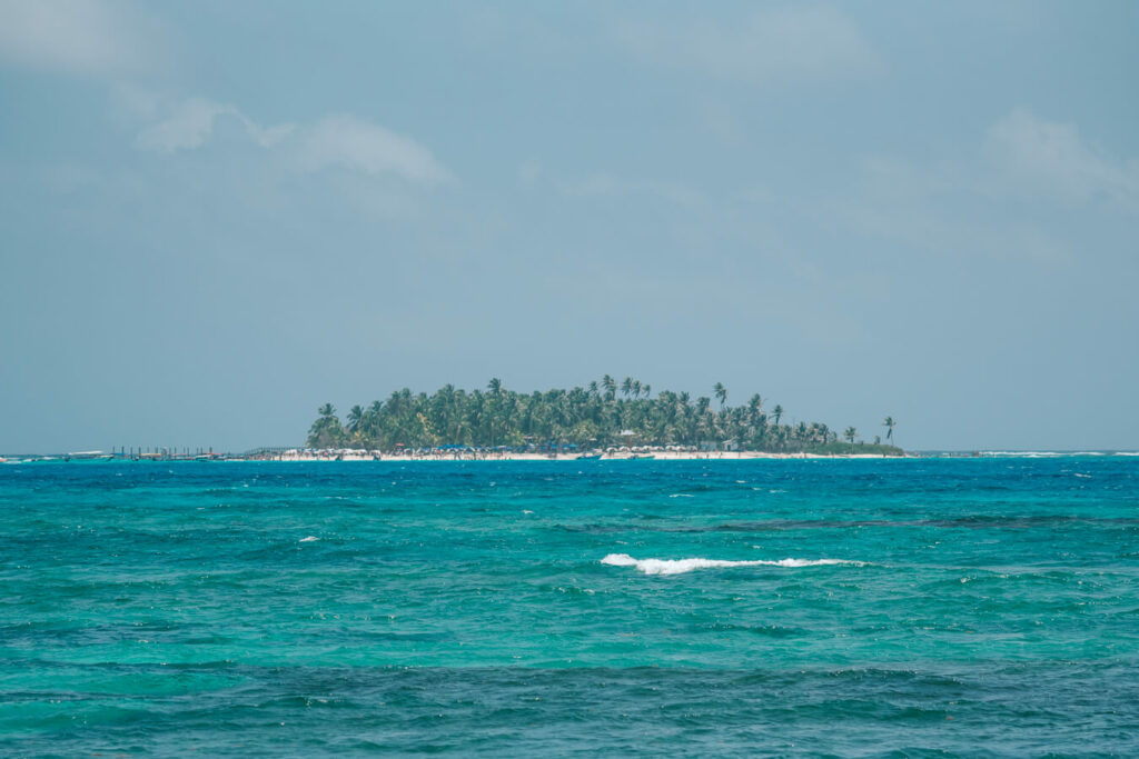 Johnny Cay island from San Andres town