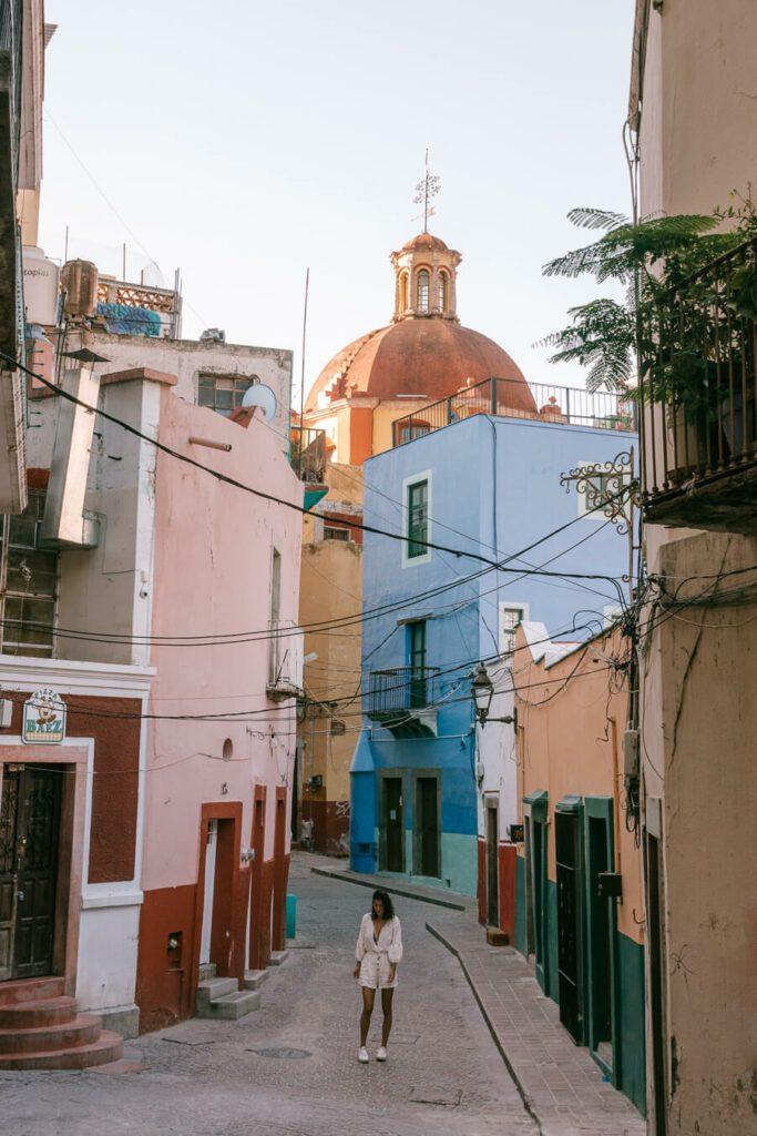 Guanajuato streets Mexico