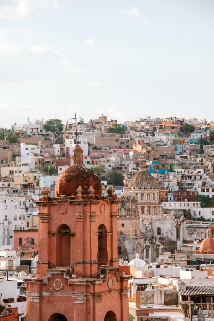 Church spire in Guanajuato MExico