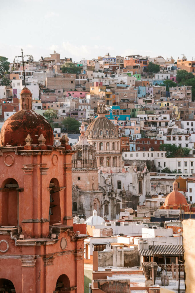 View of the rooftop of Guanajuato Mexico
