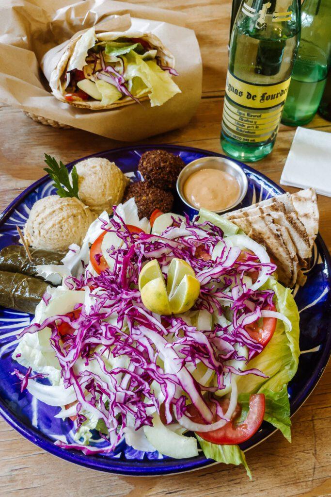 Falafel plate in Guanajuato