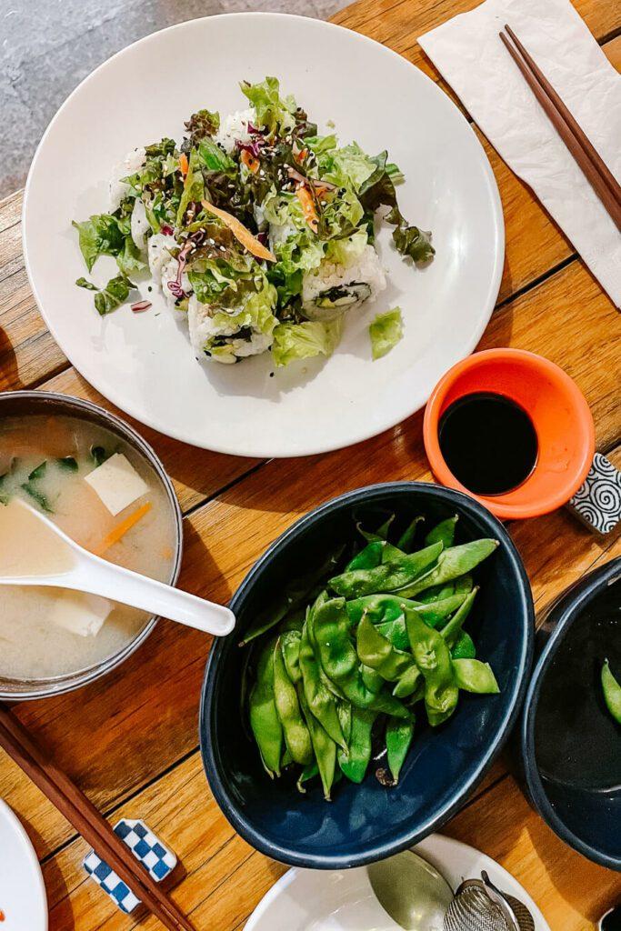 Japanee food in restaurant
