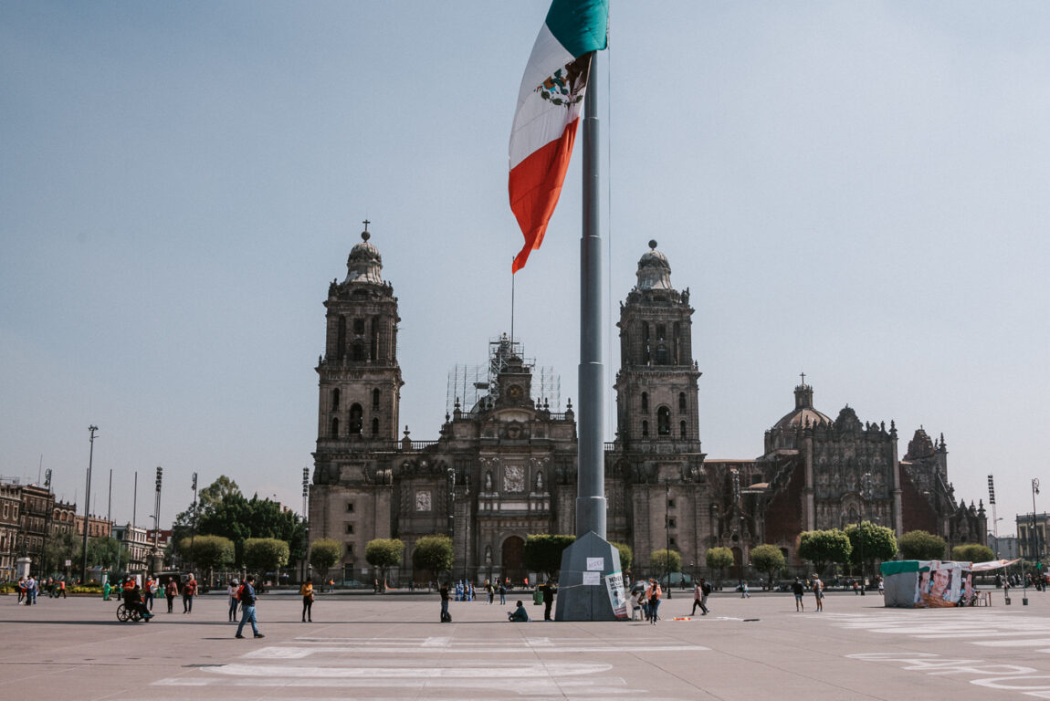 Zocalo square Mexico City