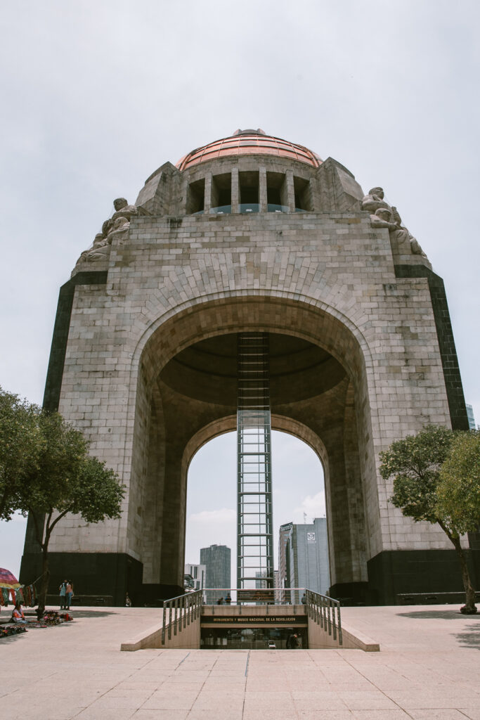 Famous domed building in Mexico City