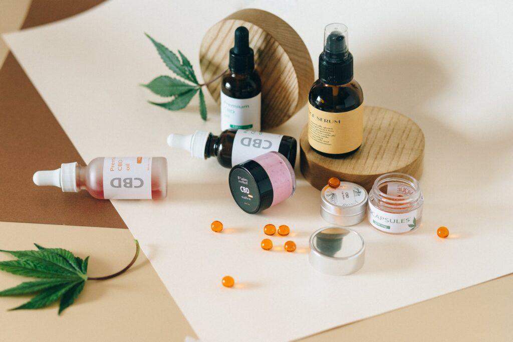 CBD oil and CBD cosmetics
